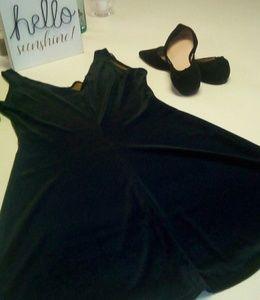 Cute Brown A- line Velour Dress